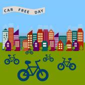 Car free day — Stock Vector