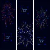 Colorful firework. vector — Cтоковый вектор