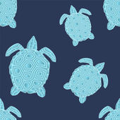 Abstract turtle seamless. vector illustration — Vettoriale Stock