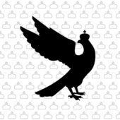 Aigle royal. illustration vectorielle — Vecteur