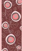Soyut çiçek desenli. vektör çizim — Stok Vektör