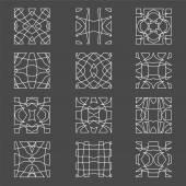 Set of original vector design elements -illustration — Stock Vector