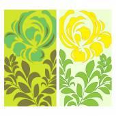 Flower in slavs style. background or banner design. stock vector — Stock Vector