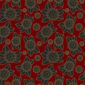 Vector seamless russian flower pattern. slavs design — Stock Vector