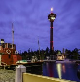 Tower Näsineula, Tampere, Finland. — Stock Photo