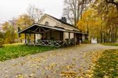 Street cafe in the fall. — Foto de Stock