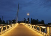 Cable stayed bridge, Tampere. — Stock Photo