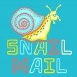 Colorful Snail Mail Vector Icon — Stock Vector #54194375