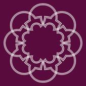 Arabesk geometrik çerçeve — Stok Vektör