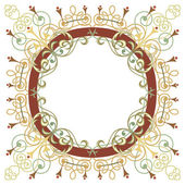 Beautiful luxury round frame, ornamental border — Stock Vector