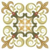 Starověké návrhový vzor, barevné dekorativní pozadí — Stock vektor
