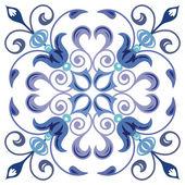 Oude ontwerppatroon, kleurrijke decoratieve achtergrond — Stockvector
