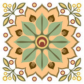 Ancient design pattern, colorful ornamental background — Stock Vector