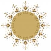 Beautiful luxury round frame, ornamental border — Stock Vector