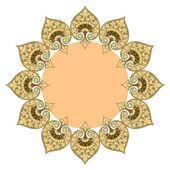 Красивая, роскошная круглая рамка, декоративные границы — Cтоковый вектор