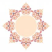 Beautiful luxury round frame, ornamental border — Vector de stock