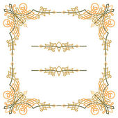 Colorful luxury border, wire frame beautifully blended — Stock Vector