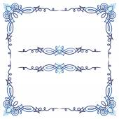 Colorful luxury border, wire frame beautifully blended — ストックベクタ