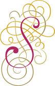 Kalligraphische englische Alphabete, modische und stilvolle Buchstaben s — Vecteur