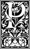 Inglês letras do alfabeto decoradas com flores e folhas da planta — Vetor de Stock