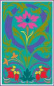 Español las letras del alfabeto decoradas con flores y hojas de la planta — Vector de stock