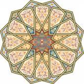 Arabesque pattern with detailed ornament — Stok Vektör
