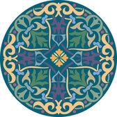 Dekorativa mönster med vacker detaljerad prydnad — Stockvektor