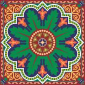 Oriental ornament pattern in editable vector design — Stock Vector