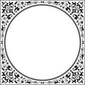 Oriental garnished frame  — Stock Vector