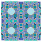 Colorful mosaic pattern, tiling blocks — ストックベクタ