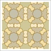 Colorful mosaic pattern, tiling blocks — Vetor de Stock