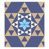 Colorful mosaic pattern, tiling blocks — Stock Vector