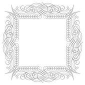 Calligraphic border frame, vector monochrome — Stock Vector
