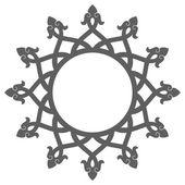 Decorative round frame. Ancient art — Stock Vector