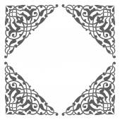 Blank garnished frame, Ancient style border — Stock Vector