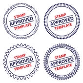 Circle stamp template, security design — Stock Vector