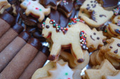 Christmas confectionery little horse — Stock Photo