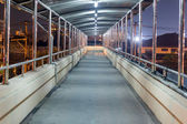 Walkway on the bridge at night, Thailand. — Stock Photo