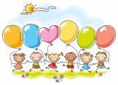 Colourful balloons — Stock Vector