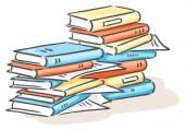 Stos książek — Wektor stockowy