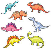 Cartoon colorful dinosaurs — Stock Vector