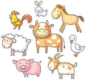 Cartoon farm animals — Stock Vector