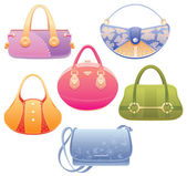 Lady bags. — Stock Vector