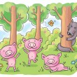 Three little pigs fairy tale — Stock Vector #54163905