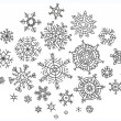 Set of different hand-drawn snowflakes — Stock Vector #54165177