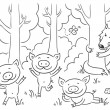 Three little pigs fairy tale — Stock Vector #54167811