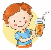 Glass of juice — Stock Vector