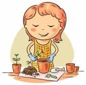 Gardening hobby — Stock Vector