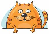 Fat cat peeping out — Stock Vector