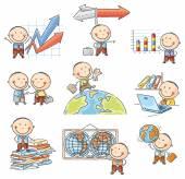 Cartoon Businessman Set — Stock Vector
